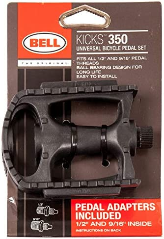 "NEW Bell Kicks 450 Universal Cruiser Bicycle Pedal Set Adapters 1//2/"" /& 9//16/"""