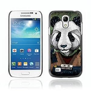 Designer Depo Hard Protection Case for Samsung Galaxy S4 Mini / Cool Panda Mug Shot Art