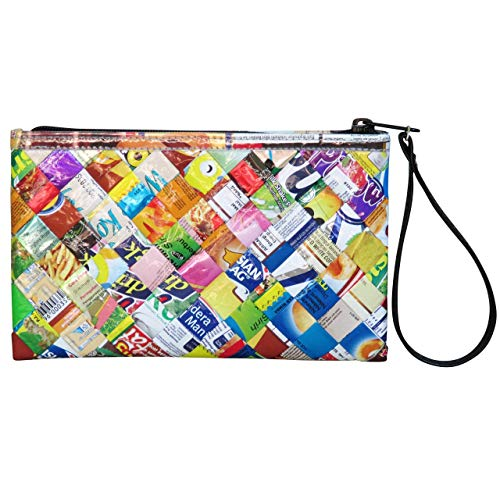 Wristlet made from candy wrappers PRIME fun colourful women's clutch gift for sweet wife sister girlfriend mum special woman friend vegan organic upcycled recycle ladies purse bag passport pouch