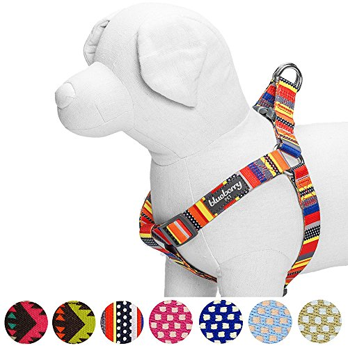 Blueberry Pet Step-in Nautical Flags Inspired Designer Dog Harness, Chest Girth 16.5