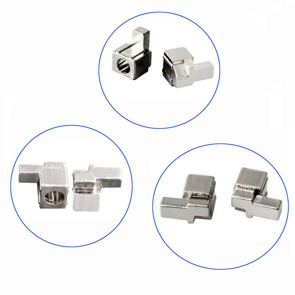 yihonersty 1 Pair Lock Buckle Left Right Metal Joy-Con Replacement Parts for Gamepad Controller