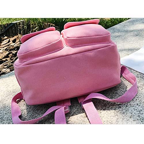 Unisex De Gran Capacidad Mochila Houyazhan Adulto Blue color Pink Bolso xAqT7RX