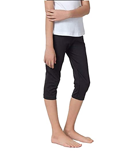 c3b55eaf8 TiaoBug Kids Girls Soft Stretchy Casual Modal Capris Leggings Cropped  Tights Pants for Fitting Gymnastic Activewear