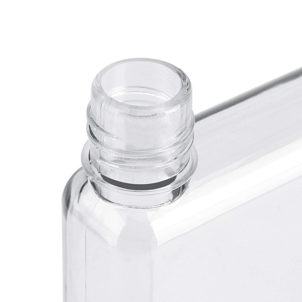 49b244745029 SAIBANG Reusable Flat Plastic Water Bottle, Special Book Shape Design  Plastic Memo Flat Portable Water Bottle