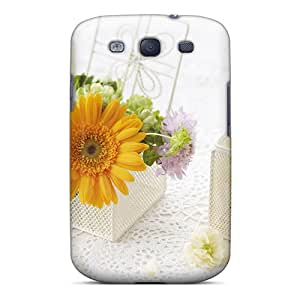 Sanp On Case Cover Protector For Galaxy S3 (mother S Day Beautiful Flower Decorating With Flowers)