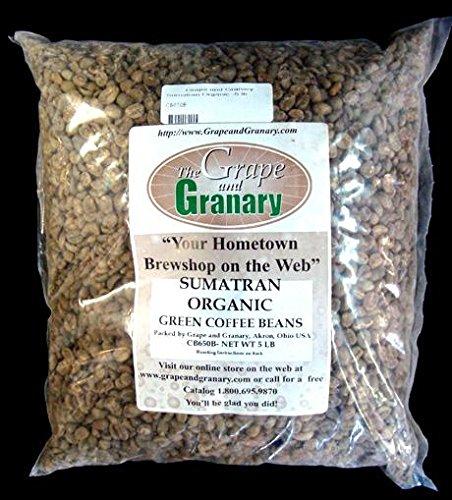Sumatran Organic unroasted Coffee Beans (5LB)
