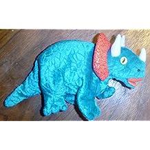 TY Beanie Babies Hornsly Dinosaur Stuffed Animal Plush Toy - 9 inches long