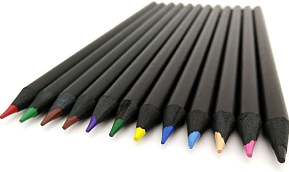 12Pcs Colorful Sketch Drawing Charcoal Pencil For Artist Sketching Drawing Set·