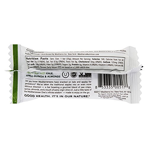 Mediterra - Gluten Free Savory Bar Kale, Apple, Quinoa & Almonds - 1.23 oz.