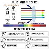 CRGATV 3 Pack Rimless Reading Glasses Blue Light