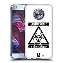 Head Case Designs Bio Hazard Symbols 2 Soft Gel Case for Motorola Moto X4