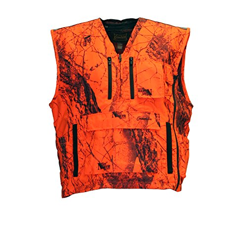Mountain Pass Extreme Big Game Blaze Vest (Orange Camo, Large)
