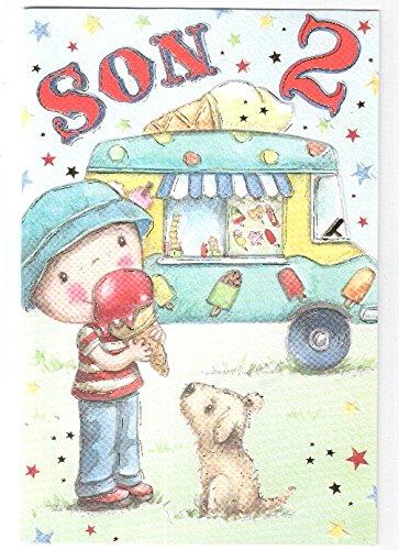 Happy 2nd birthday son card ice cream van design gr amazon happy 2nd birthday son card ice cream van design gr bookmarktalkfo Gallery