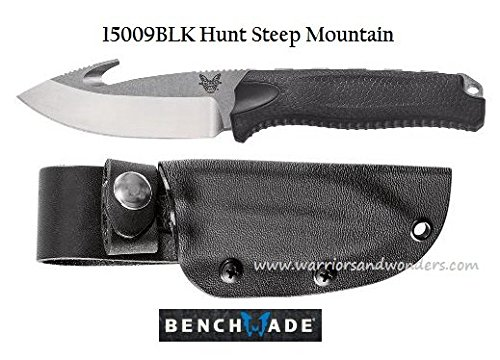 Benchmade - Steep Country 15009 w/Hook, Drop-Point, Black Handle ()