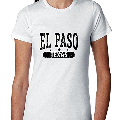 Hollywood Thread Trendy EL Paso, Texas With Stars Women's Cotton T-Shirt -