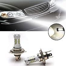 Ralbay 2x 80W 12V Xenon White H4 9003 HB2 CREE LED Hi/Lo Beam Headlight Driving Fog Lamp Bulb