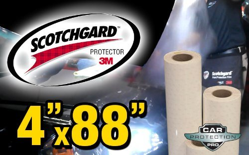 (3M Scotchgard Clear Bra Paint Protection Bulk Film Roll 4-by-88-inches)