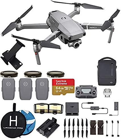 1f8afbe66cd DJI Mavic 2 Zoom Fly More Combo Deluxe Bundle (3 Batteries, ND Filters Set