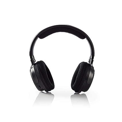Nedis HPRF200BK Auriculares Inalámbricos | Frecuencia de Radio (RF) | Tipo Casco | Negro