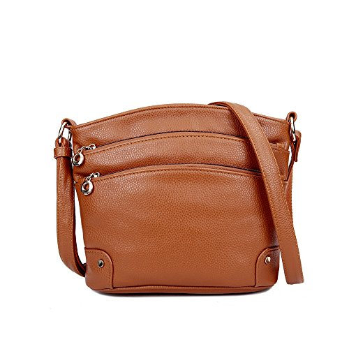 Women Mynos Bag Bag Genuine Layers Brown Travel Luxury Women Leather Handbag Purse 3 Crossbody For And Wnxtapx