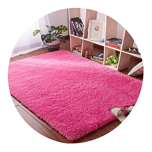 Living Room Coffee Table Blanket Nordic Style Long Hair Carpet Bedroom Bedside mat Thickened Washed Silk Hair Non-Slip Rug,9,80 x200cm -
