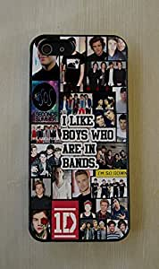 5 SOS 1D 5 Seconds of Summer One Direction Fitted Hard Cell Phone Case for iPhone 4/4S