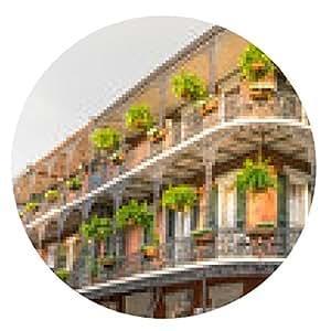 alfombrilla de ratón Nueva Orleans Balcón V - ronda - 20cm