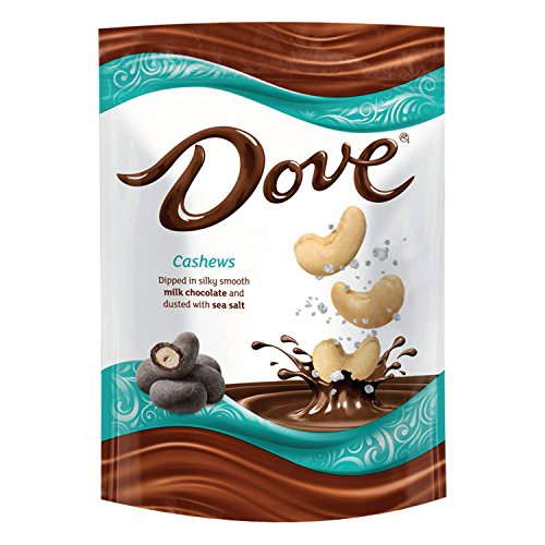 DOVE Cashews With Sea Salt and Milk Chocolate Candy 5-Ounce Bag (8 Count)