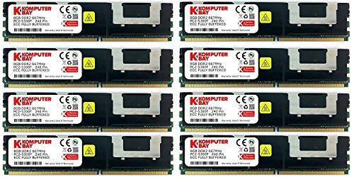 Komputerbay 32GB (8x 4GB) DDR2 PC2-5300F 667MHz CL5 ECC Fully Buffered FB-DIMM (240 PIN) 32 GB w/ (Ecc Ddr2 Sdram)