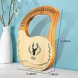 SEAAN 19 String Lyre Harp Lye Harp Solid wood