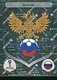 #10: 2018 Panini World Cup Stickers Russia #32 Team Logo Russia Soccer Sticker