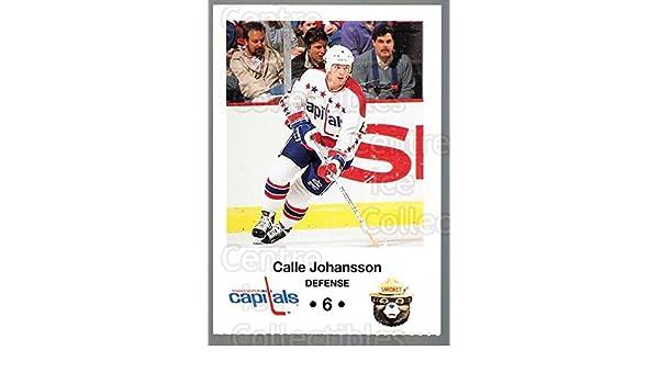 Amazon.com  (CI) Calle Johansson Hockey Card 1990-91 Washington Capitals  Smokey 9 Calle Johansson  Collectibles   Fine Art 3468ece46ca7