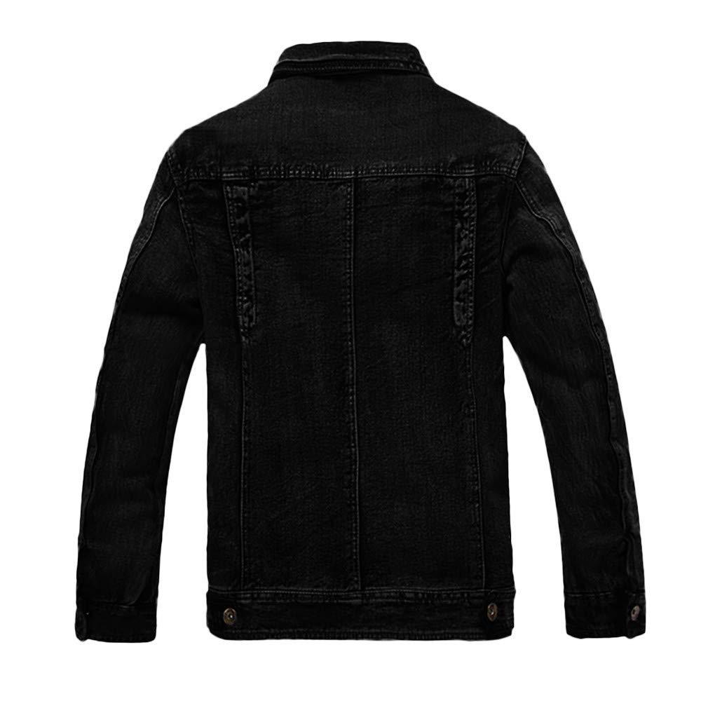 Big Sale Daoroka Mens Hoodies Denim Jacket Wind Autumn Winter Wash Distressed Thick Warm Coat Long Sleeve Zipper Pocket Coat Fashion Casual Outwear