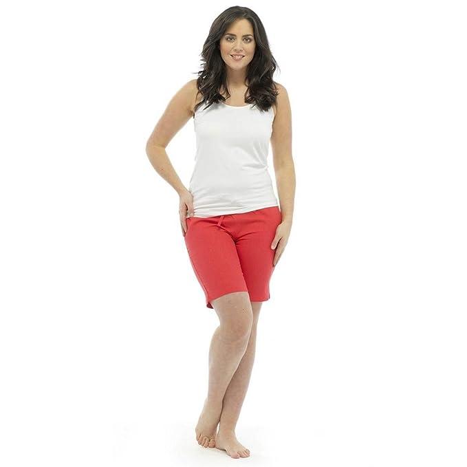 63915b91e73a71 Ladies Linen Shorts Style LN582 Coral Size 10 | Amazon.com