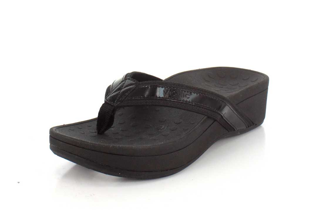 Vionic Womens 380 Pacific Hightide Pacific Black Leather Hightide Sandals Black 25c1c4e - shopssong.space