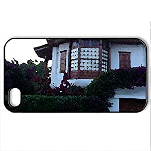 akyaka house turkey - Case Cover for iPhone 4 and 4s (Houses Series, Watercolor style, Black)