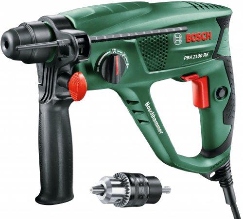 Bosch Martillo perforador PBH 2100 SRE (Adaptador SDS, tope de profundidad, empuñadura adicional, maletín, 550 W)