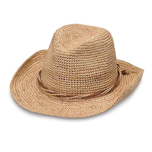 (Wallaroo Hat Company Women's Hailey Cowboy Hat - Raffia, Modern Cowboy, Designed in Australia, Natural)