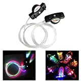 Multi-Color LED Light Up Shoelaces with 3 Modes Light Flashing for Clubbing, Rave, Birthday, Edm, Disco, Hip-hop Dancing, and Dubstep Party by WearHome (Batteries Included)