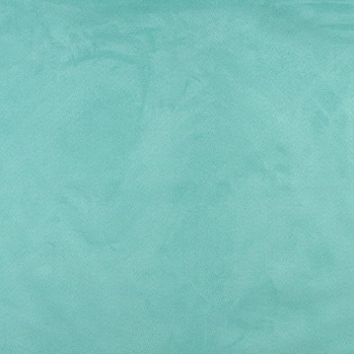 C094 Aqua Green Solid Microsuede Microfiber Contemporary Upholstery Grade Fabric By The ()