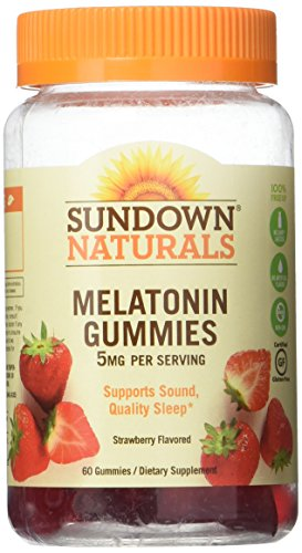 Sundown Naturals Melatonin 5 mg Dietary Supplement Gummies Strawberry Flavor - 60 ct, Pack of - Gummy 60 Count
