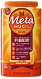 Metamucil Psyllium Fiber Supplement by Meta Orange Smooth Sugar Powder 114 Doses, 48.2 Ounce