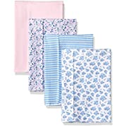 Hudson Baby Baby Layered Flannel Burp Cloth, Prairie 4 Pack, One Size