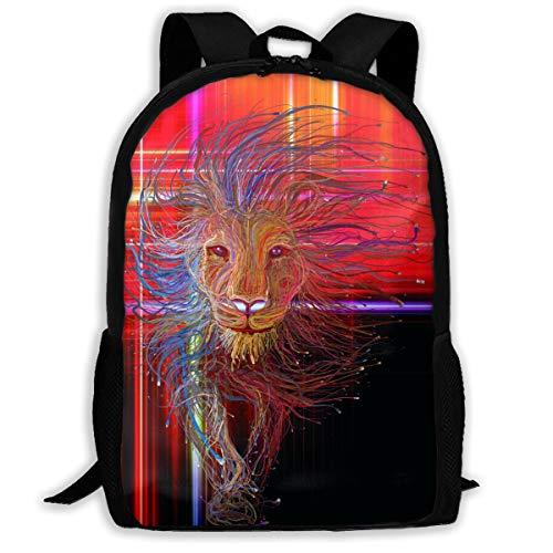 Africa Lion Colorful Paint Backpack Women 3D Print Daypacks For Men