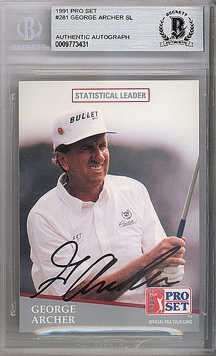 George Archer Signed 1991 Pro Set Card #281 - Beckett (George Archer Signed)
