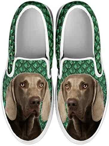 petkanvas Cute American Staffordshire Terrier Dog Slip Ons Shoes for Kids