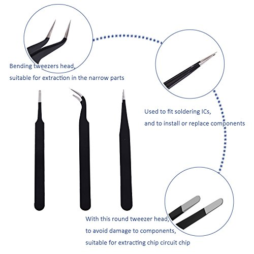 Repair Tools Kit, Precision Screwdriver Set,Electronic Devices Pry Open DIY Tool Kits Phones/Computers/PC/Tablets/Pads/iPad Pro/Watch by KALAIDUN (Image #3)