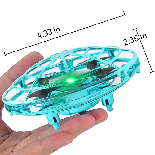 ZGYQGOO Hand Operated Drones for Kids 6 8 10 Year Old - Drone Toys for 5 6 7 8 9 10 Year Old Girls and Boys, Mini Easy Indoor Small Orb Flying Ball Indoor/Outdoor Teen Girl Gifts Blue by ZGYQGOO (Image #5)