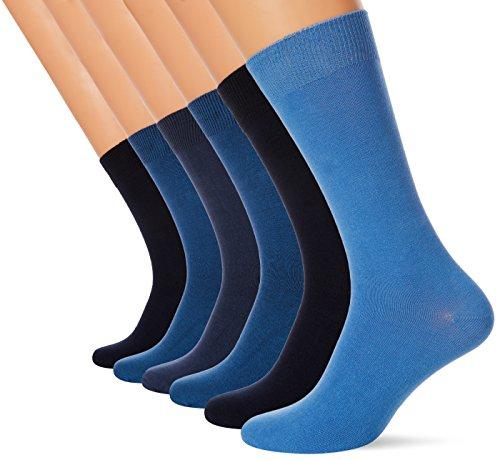 FM London 6er Pack Herren Socken mit HyFresh Geruchsschutztechnologie, One size (39-45 EU), Farboptionen, Weiche 24h Elegante Socken