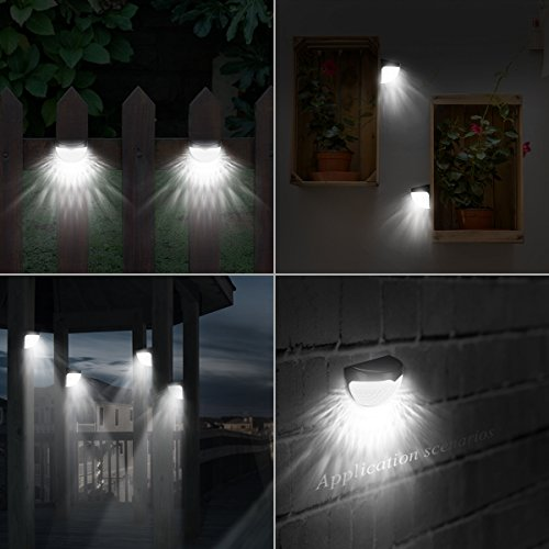 Amir solar powered semi circle light outdoor fence lights wireless amir solar powered semi circle light outdoor fence lights wireless security lights weatherproof garden lights with aloadofball
